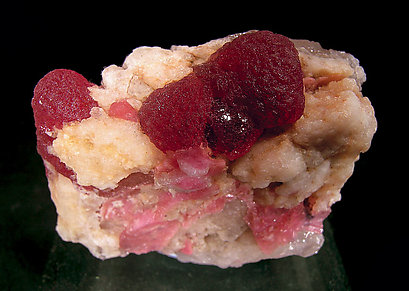 Elbaite (variety rubellite) with Quartz.