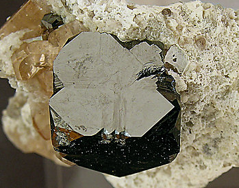 Bixbyite with Topaz. Top