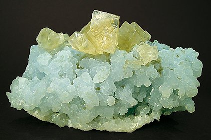 Calcite on Prehnite.