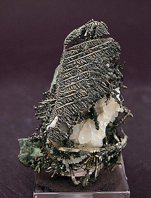 Silver with Calcite.