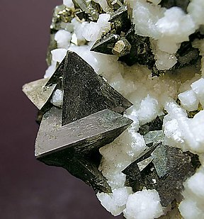 Tetrahedrite with Calcite and Pyrite.