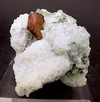 Brookite with Quartz and Albite.