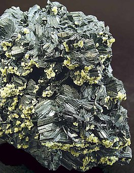 Semseyite with Siderite.