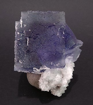 Fluorite with Quartz. Bulb light