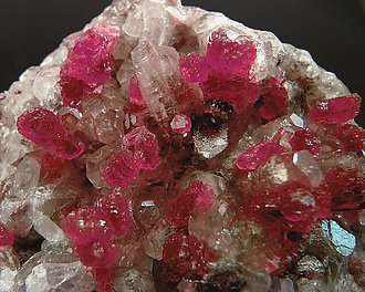 Roselite on Calcite.