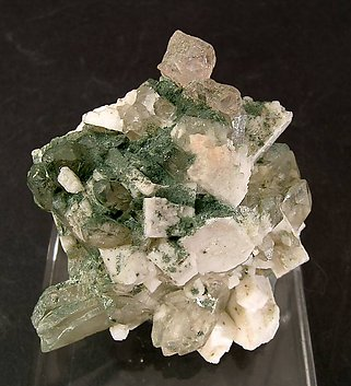 Fluorite with Quartz and Orthoclase.