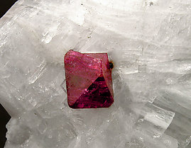 Norbergite and Spinel on Calcite.