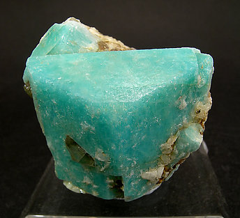 Microcline (amazonite) with smoky Quartz.