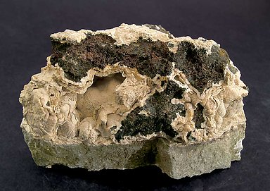 Alabandite with Rhodochrosite. Rear