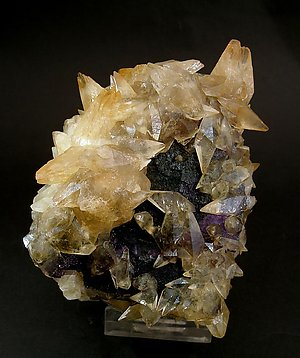 Fluorite with Calcite. Front