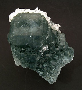 Fluorite with Calcite and Jamesonite inclusions. Top