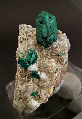 Dioptase with Smithsonite.