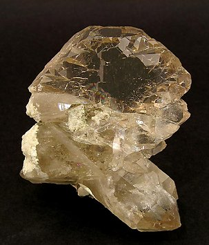 Quartz (variety smoky and gwindel). Front