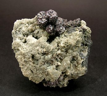 Pyrargyrite with Calcite. Front