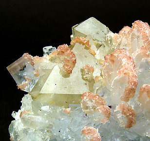 Scheelite with Fluorite and Dolomite.