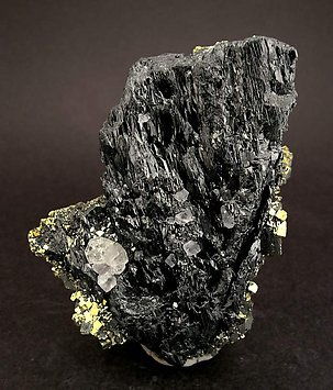 Ferberite with Fluorite and Pyrite.