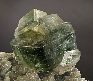 Fluorapatite with Muscovite and Quartz.