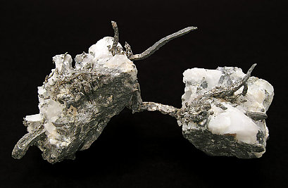 Silver with Calcite. Rear