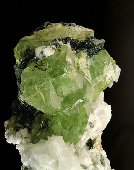 Titanite on Calcite.