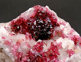 Roselite with Calcite.