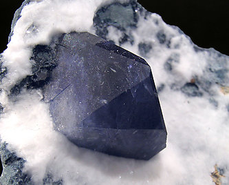 Benitoite on Natrolite. Left side