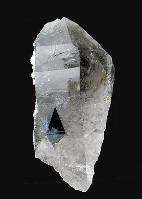 Anatase on smoky Quartz. Front