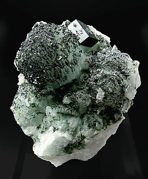 Babingtonite with Prehnite.
