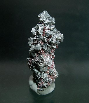 Acanthite with Proustite. Rear