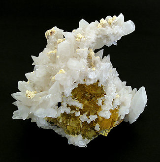 Calcite with Fluorite and Baryte.