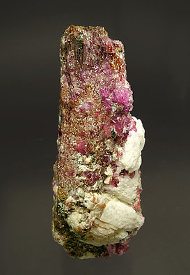 Painite with Corundum (variety ruby). Front