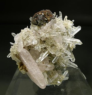 Wurtzite with Quartz and Fluorapatite.