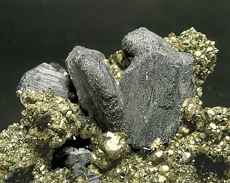 Andorite with Pyrite and Zinkenite.