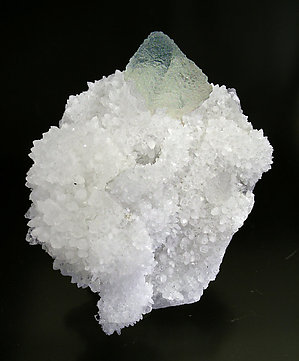 Octahedral Fluorite on Quartz.