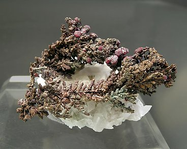 Copper with Cuprite and Calcite. Front