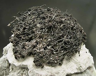 Silver with Acanthite.