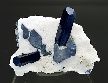 Neptunite with Benitoite and Natrolite.