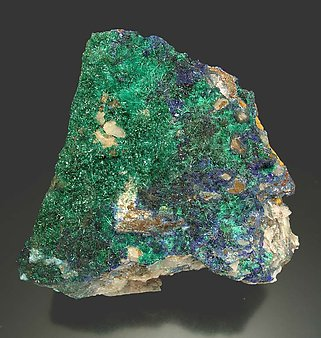 Linarite with Brochantite.