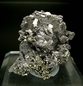 Polybasite with Chalcopyrite and Quartz. Front