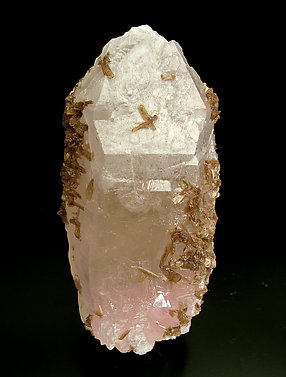 Eosphorite on Quartz with Feldspar. Front