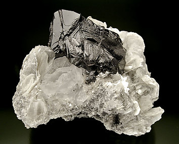 Cassiterite with Mica and Fluorite. Side