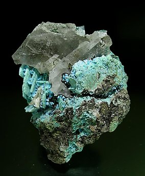Malachite after Baryte. Top