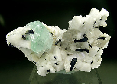 Fluorite with Schorl, Quartz, Muscovite and Feldspar.