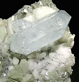 Beryl with Albite and Muscovite. Top