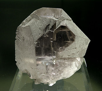 Quartz (variety smoky and gwindel) with Chlorite. Front
