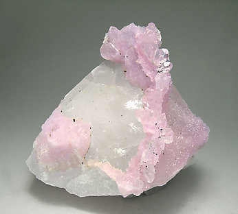 Quartz (variety rose) on Quartz and Mica.