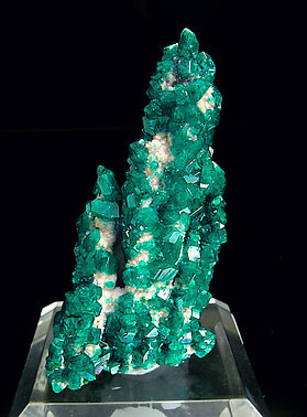 Dioptase with Calcite.