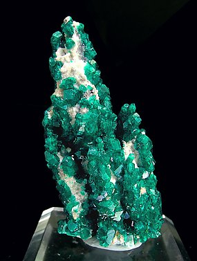Dioptase with Calcite. Rear