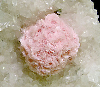 Rhodochrosite on Quartz.