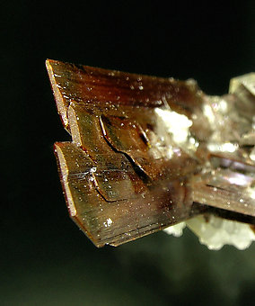 Brookite with Quartz. Top