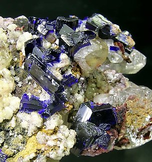 Cerussite with Smithsonite and Azurite.